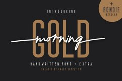 Morning Gold - Handwritten Font Product Image 1