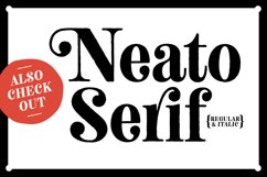 Neato Serif Rough Font Family Product Image 4