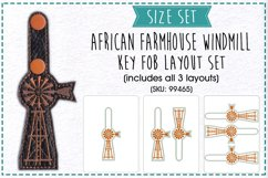 Farmhouse Windmill with Ladder Key Fob Embroidery Design Product Image 1