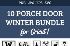 10 Porch door winter signs bundle, welcome signs, reindeers Product Image 3