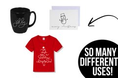 Merry and Bright - A Christmas / Winter Doodles Font Product Image 3