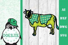 Cow farm animal 3d svg model multi layer mandala layered Product Image 9