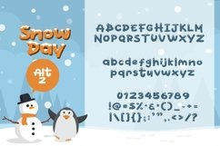 Web Font Snow Day Display Product Image 3