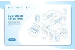 Customer retention landing page. Client loyalty and branding Product Image 1