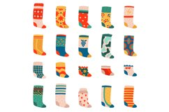 Cute socks. Colorful funny cotton socks, warm textile trendy Product Image 1