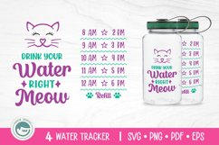 Unicorn / Mermaid / Fairy / Cat / Water Tracker SVG Cut File Product Image 2