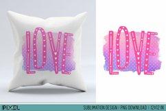 Love Letters Sublimation Design PNG Product Image 1