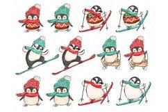 Winter Clipart, Cute Penguins, Winter Graphics, Let it Snow Product Image 2