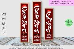 Santa stop here svg, christmas porch sign svg, Christmas svg Product Image 1