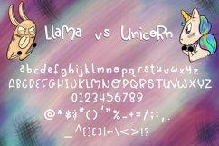 Llama vs Unicorn| A Dueling monoline font Product Image 2
