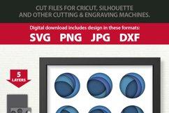 3D Layered Modern Art Circles Shadow Box SVG Cutting File Product Image 4