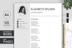 Creative Resume Template, CV Template, Resume Template Word Product Image 6
