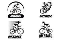 Set of bike race logo design illustration Product Image 1