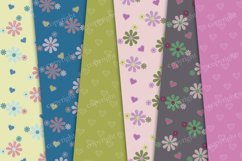 Flowers and hearts digital background Product Image 2