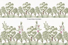 """Watercolor ClipArt """"Sweet greenery"""" Product Image 4"""
