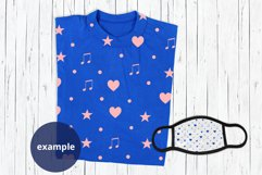 Blue T-shirt & Face Mask Mockup, Full wrap t-shirt mock up Product Image 2