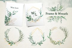 Watercolor & Gold Leaf Branch Product Image 4