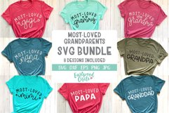 Most Loved Grandparents SVG Bundle - Cut Files for Crafters Product Image 1