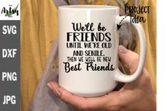 Best friends svg, friend gift svg, best friend quote decal Product Image 1