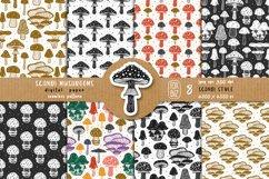 Mushrooms. Botanical, natural, floral seamless patterns. Product Image 1