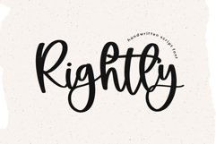 Rightly - A Handwritten Script Font Product Image 1