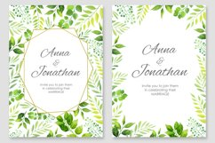 Floral Wedding invitations vector set Product Image 2