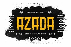 Web Font Azada Display Brush Font Product Image 1