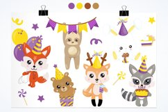 Woodland Birthday Graphics and illustrations, vecto Product Image 3