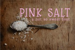 Pink Salt A Not So Sweet Font Product Image 1