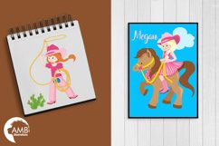 Cowgirl clipart, graphics, illustrations AMB-159 Product Image 4