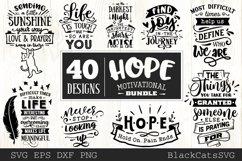 Hope motivational Bundle SVG bundle 40 designs Product Image 2