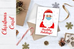 Christmas Card. Quarantine Christmas Card design SVG, PNG Product Image 5
