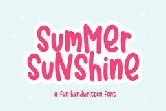 Summer Sunshine - A Fun Handwritten Font Product Image 1