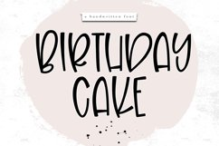 Birthday Cake - A Handwritten Font Product Image 1