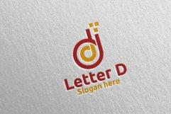 Digital Letter D Logo Design 14 Product Image 3