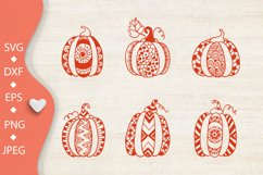 Pumpkin bundle svg. Pumpkin mandala clipart. Thanksgiving. Product Image 4