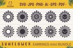 Sunflower Earrings mini SVG Bundle, Sunflower Clipart, Earri Product Image 1