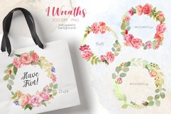 Watercolor Summer Flowers Clipart Product Image 4