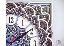 C11 - Wall Clock for Laser cut, Mandala Clock DXF pattern Product Image 6