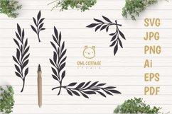 Laurel Leaves SVG Bundle, Floral Decor Bundle, Wedding Decor Product Image 2