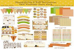 Thanksgiving & Fall Decorations DIY Printable Party Pack Product Image 2