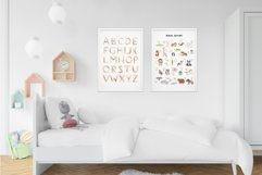 Watercolor Animal Alphabet. Cliparts Poster and Patterns Product Image 5