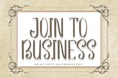 Join to Business | Beautiful Handwritten Font Product Image 1