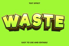 Waste text effect. editable and easy to use. premium vector Product Image 1