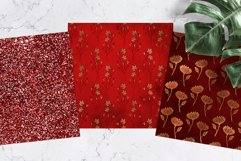Red & Gold Digital Paper Pack Product Image 3