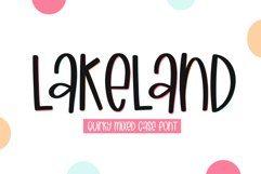 Lakeland - A Quirky Handwritten Font Product Image 1