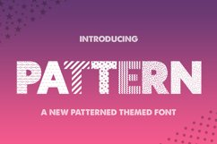 Pattern Silhouette Font Product Image 1