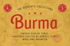Burma Vintage Font Collection Product Image 1