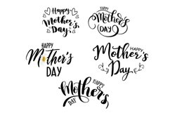 Happy Mother's day lettering set. Lettering for holiday Product Image 1