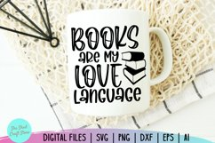 Books Are My Love Language Svg - Book Lover Svg - Bookworm Product Image 4